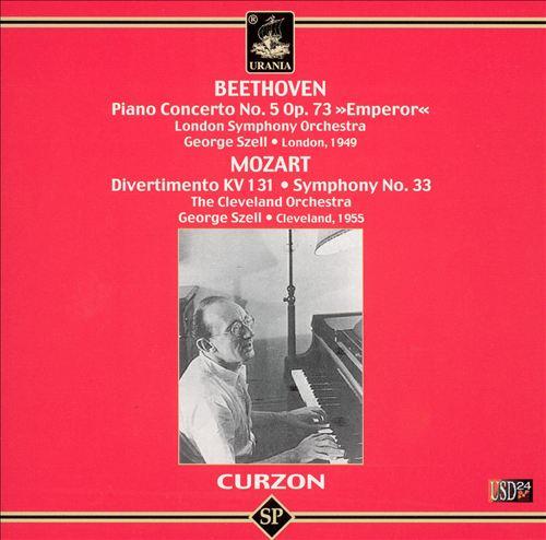 Beethoven: Piano Concerto No. 5; Mozart: Divertimento, KV 131; Symphony No. 33