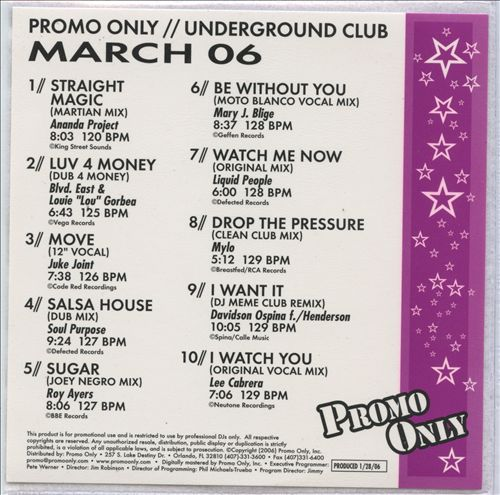 Promo Only: Underground Club (March 2006)
