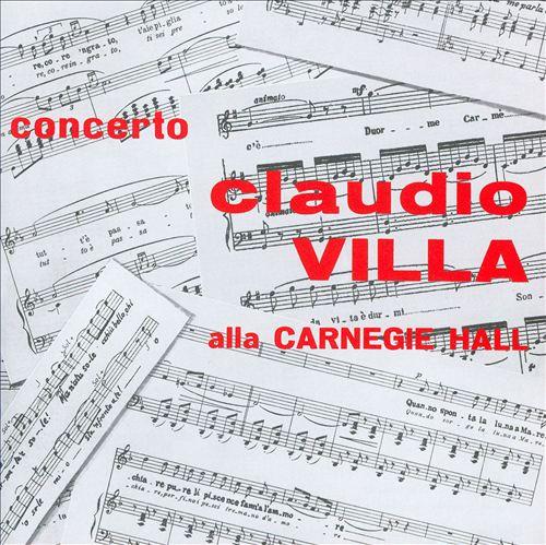 Claudio Villa alla Carnegie Hall