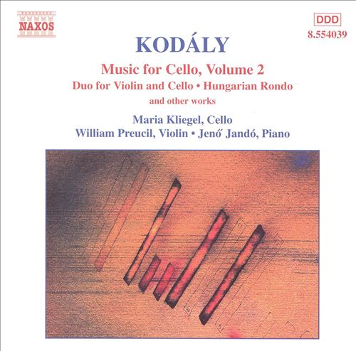 Kodály: Music for Cello, Volume 2
