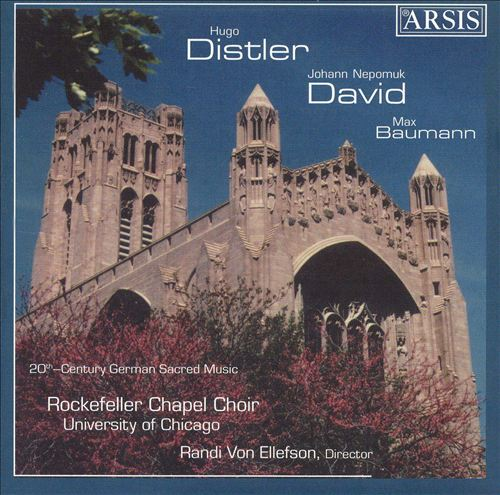 Distler, David, Baumann: 20th Century Sacred Music
