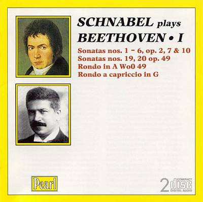 Schnabel plays Beethoven, Vol. 1
