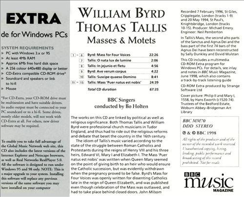 William Byrd, Thomas Tallis: Masses & Motets