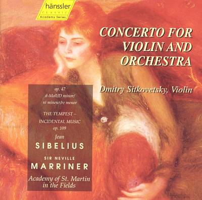 Sibelius: Concerto for Violin and Orchestra; The Tempest