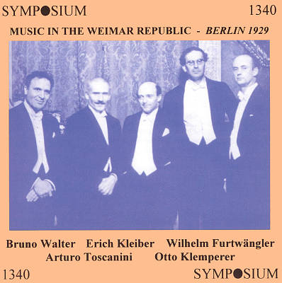 Music in the Weimar Republic: Berlin 1929