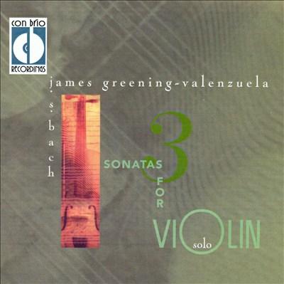 J.S. Bach: 3 Sonatas for Solo Violin