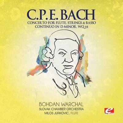 C.P.E. Bach: Concerto for Flute Strings & Basso Continuo in D minor, WQ 22