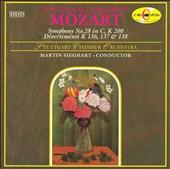 Mozart: Symphony No. 28 in C, K 200; Divertimenti K 136, 137 & 138