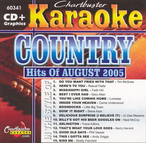 Chartbuster Karaoke: Country Hits of August 2005