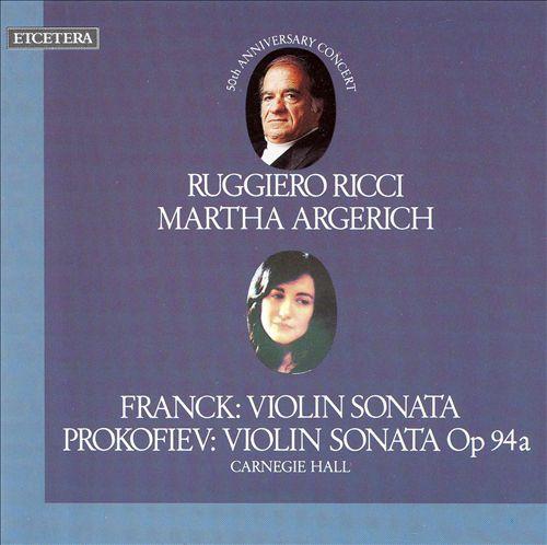 Franck: Violin Sonata; Prokofiev: Violin Sonata Op. 94a