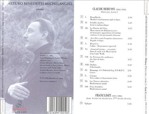 Debussy: Préludes, Livre 2; Liszt: Eglogue
