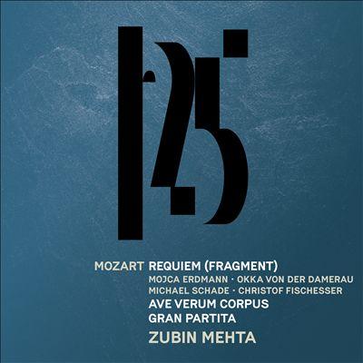 Mozart: Gran Partita; Requiem (Fragment); Ave Verum Corpus
