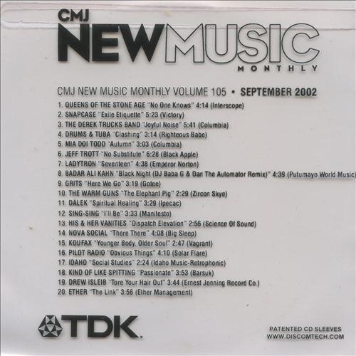 CMJ New Music, Vol. 105