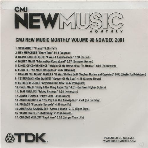 CMJ New Music, Vol. 98