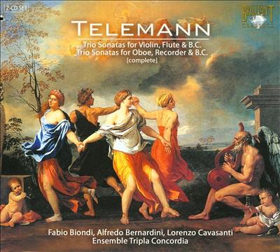 Telemann: Complete Trio Sonatas for Violin, Flute & B.C.; Complete Trio Sonatas for Oboe, Recorder & B.C.
