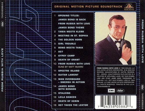 From Russia with Love [Original Motion Picture Soundtrack]