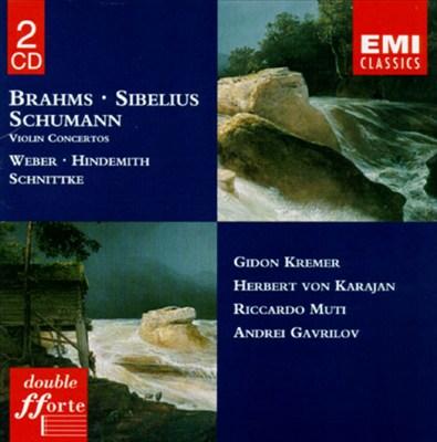 Brahms, Sibelius, Schumann: Violin Concertos