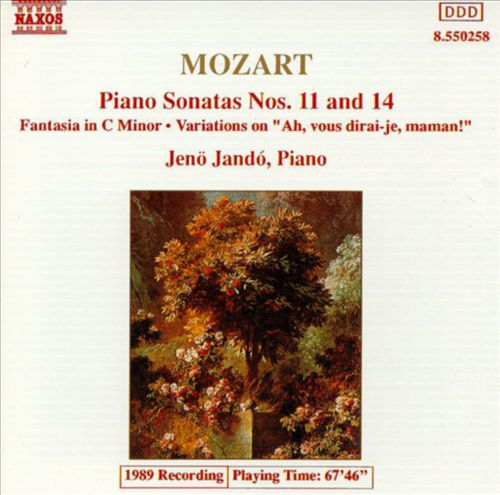Mozart: Piano Sonatas Nos. 11 & 14; Fantasia, K475; Variations, K265