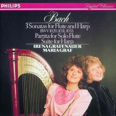 Bach: 3 Sonatas for Flute & Harp; Partita for Solo Flute; Suite for Harp