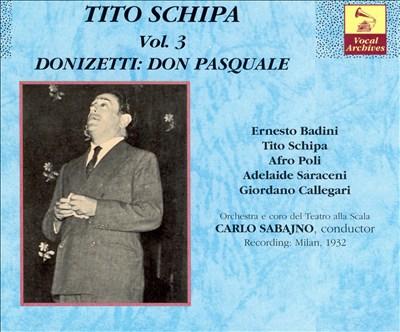Tito Schipa, Vol. 3: Donizetti - Don Pasquale