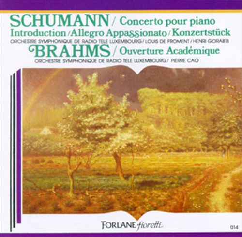Brahms: Academic Festival Overture in Cm Op80; Schumann: Piano Concerto in Am Op54