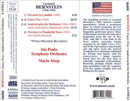 Bernstein: Anniversaries for Orchestra; Fancy Free; Overture to Candide; Overture to Wonderful Town