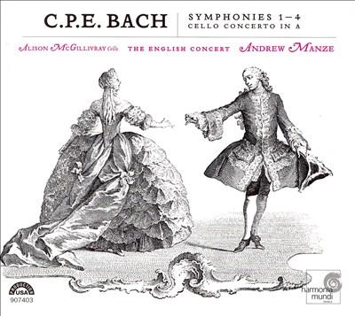 C.P.E. Bach: Symphonies 1-4; Cello Concerto in A