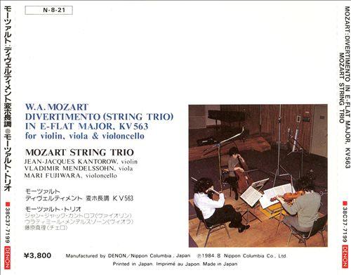 Mozart: Divertimento in E-flat Major, KV 563