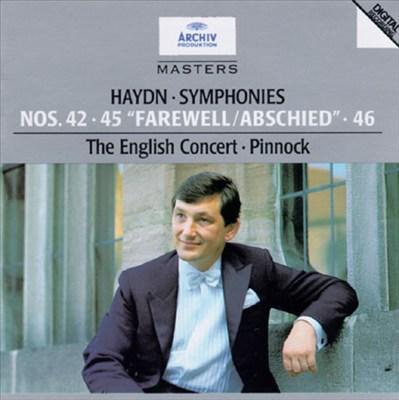 "Haydn: Symphonies Nos. 42, 45 ""Farewell"" & 46"