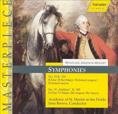 Mozart: Symphonies Nos. 33 & 35