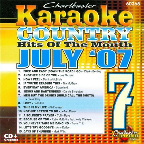 Karaoke: July 2007 Country Hits
