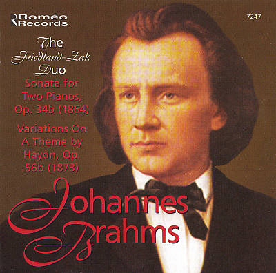 Johannes Brahms: Sonata for Two Pianos; Variations on a Theme by Haydn