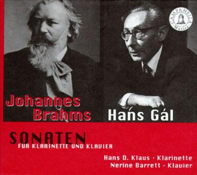 Brahms, Hans Gál: Sonaten für klarinette und klavier