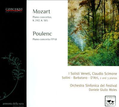 Mozart: Piano Concertos, K. 242 & 365; Poulenc: Piano Concerto, FP 61