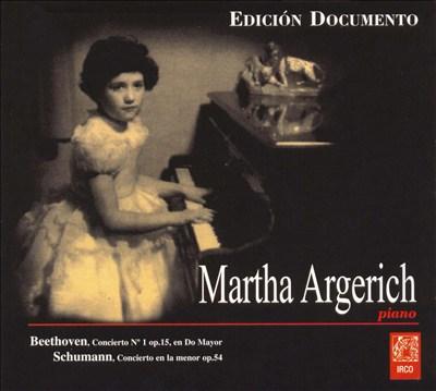 Beethoven Concierto No. 1, Op. 15 en Do Mayor; Schumann: Concierto en la menor, Op. 54