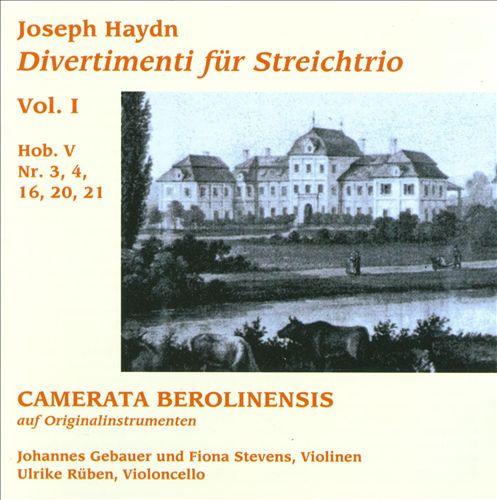 Joseph Haydn: Divertimenti für Streichtrio Vol. I