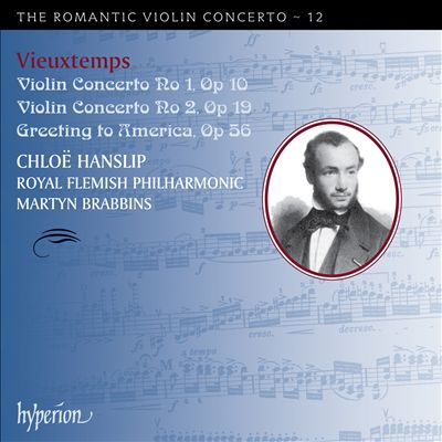 Vieuxtemps: Violin Concertos Nos. 1 & 2; Greeting to America
