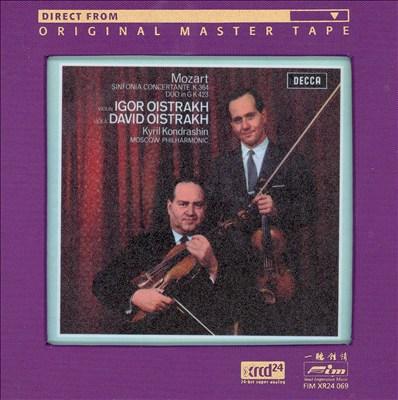 Mozart: Sinfonia Concertante, K364; Duo in G, K423
