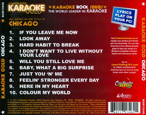 Karaoke Gold: In the Style of Chicago