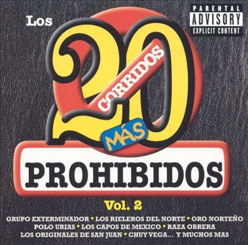 20 Corridos Mas Prohibidos, Vol. 2