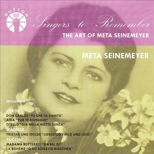 Singers to Remember: Meta Seinemeyer