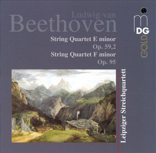 Beethoven: String Quartet E minor, Op. 59/2; String Quartet F minor, Op. 95