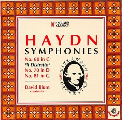 Haydn: Symphonies 60, 70, 81