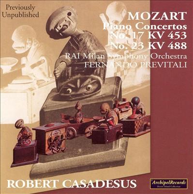 Mozart: Piano Concertos  No. 17 KV 453, No. 23 KV 488