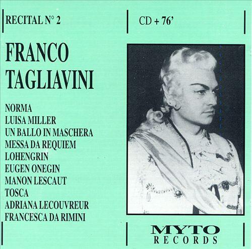 Franco Tagliavini Recital No.2