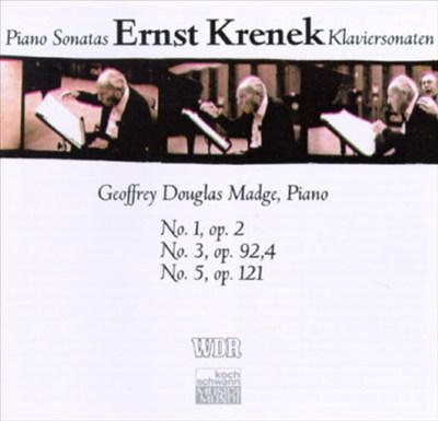 Ernst Krenek: Piano Sonatas Nos. 1, 3 & 5