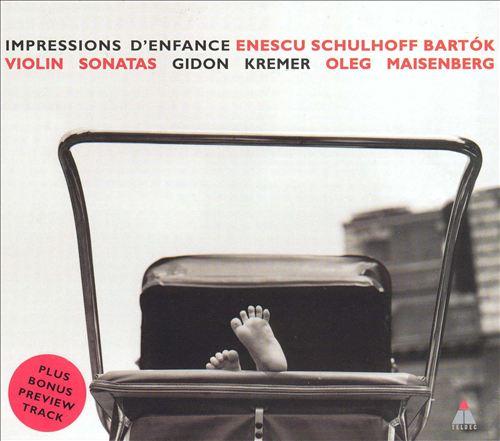 Impressions d'enfance, for violin & piano in D major, Op. 28