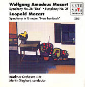 "Mozart: Symphonies Nos. 25 & 36; Leopold Mozart: ""New Lambach"" Symphony"