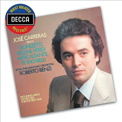 José Carreras Sings Donizetti, Bellini, Verdi, Mercadante, Ponchielli