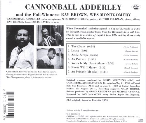 Cannonball Adderley & the Poll Winners